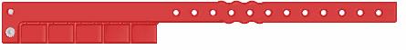 Vinilinės kontrolinės apyrankės su 5 nuplėšiamomis šaknelėmis.