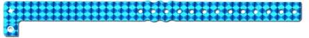 Įvairių tekstūrų holografinės kontrolinės apyrankės